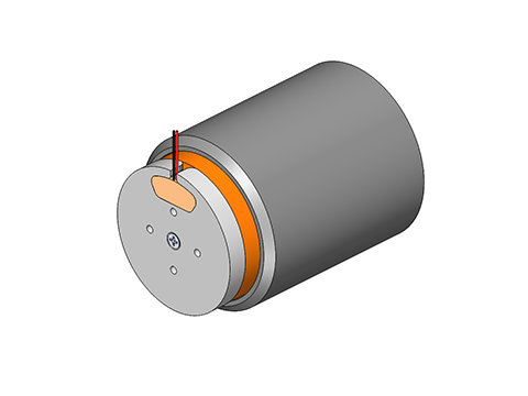 Non-Comm DC Voice Coil Linear Actuator,a linear motor,product,NCC12-60-1000-2PB