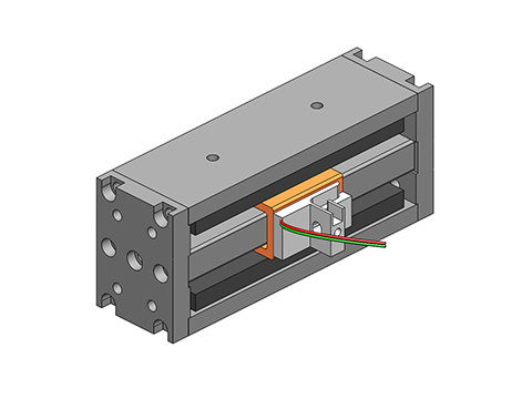 Non-Comm DC Voice Coil Linear Actuator ,a linear motor,product,NCC20-15-027-1RC