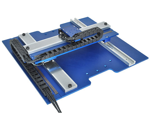 Dual Axis Linear Stepper Stage,a linear motor,product,LSS-012-12-060-XY-01A-M