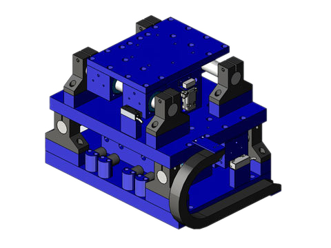 Voice Coil Positioning Stage,a linear motor,product,VCS08-700--08-350-AB-01-MC-XY-1